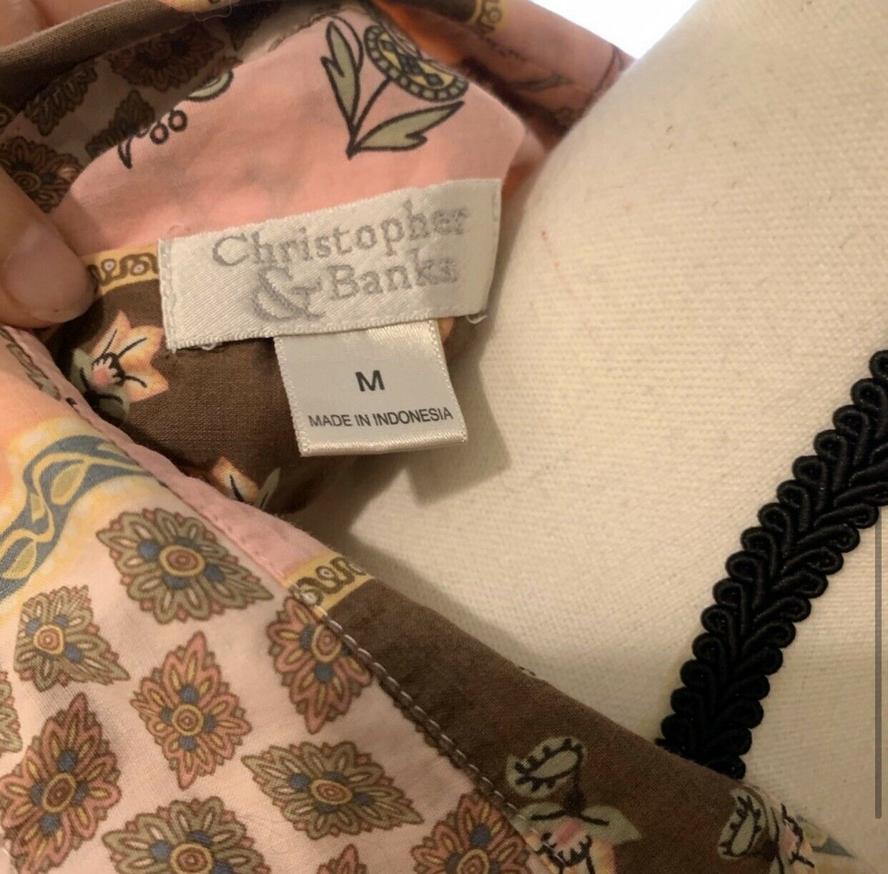 Christopher & Banks Floral Paisley Button-Up, Siz… - image 6