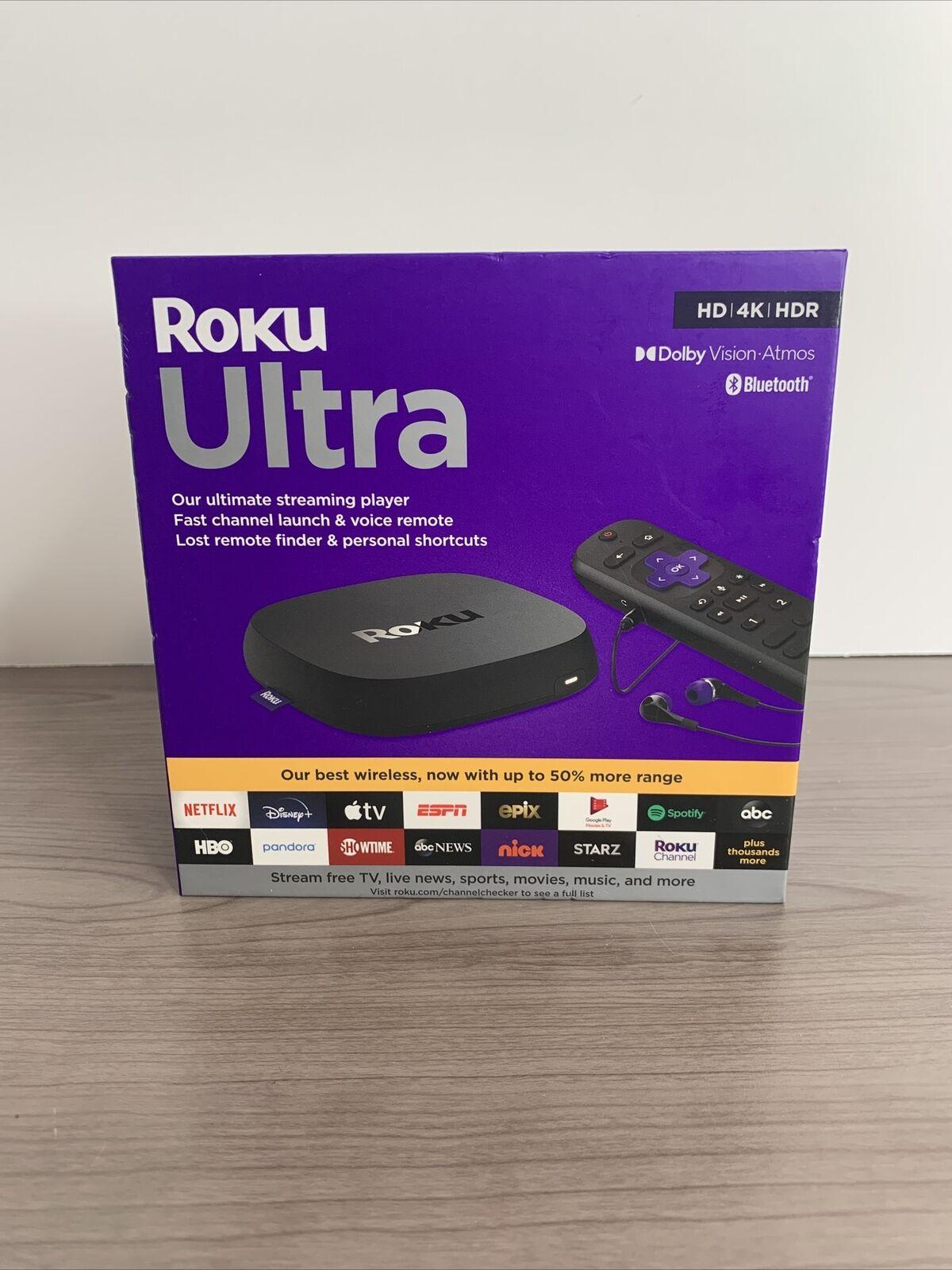 Brand New 2020 Roku Ultra 4800R 4K Streaming Media Player Voice TV Controls HDMI 4800r brand controls media new player roku streaming ultra voice