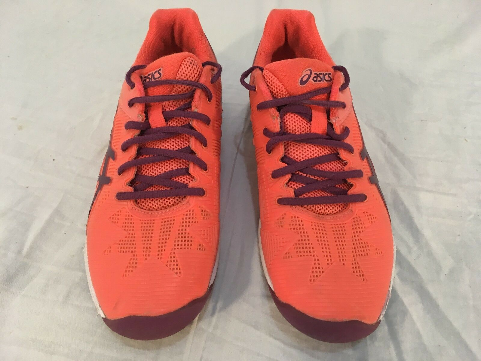 Womens ASICS Gel Solution Speed 3 Orange Purple E650N Lace Up 8 Athletic Shoes best-selling model of the brand