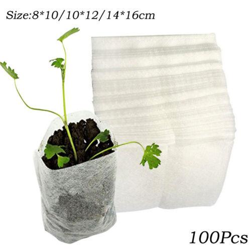 Plant Seedling Grow Bags Nursery Bag Degradable Non-woven Fabric Yard Garden