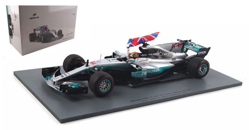 SPARK 18S312 Mercedes W08 Mexican GP 2017 Champion-Lewis Hamilton 1 18 Scale