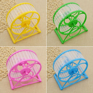 Wheel Running Exercise Plastic Scroll Silent Hamster Mouse Rat Gerbil Pet Toy