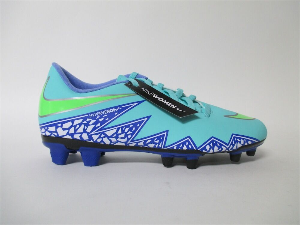 Womens Nike Hypervenom PHD 2 Turquoise Green Blue Cleats Sz 9.5 744944-334