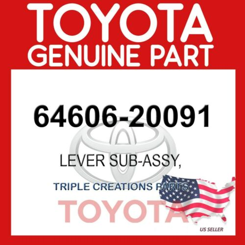 6460620091 GENUINE Toyota LEVER SUB-ASSY BACK DOOR OPEN 64606-20091 OEM