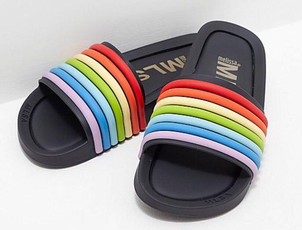 Melissa Womens Black Rainbow Sliders Eu Size 40