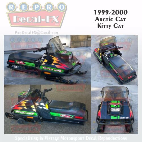 1999-2000 Arctic Cat Kitty Cat Graphics Decal Reproduction Full Kit 22 Pieces