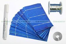 40 Pieces 3x6 Solar Cell Cells & Tab Bus Wire Flux Pen for DIY Battery Charger