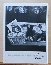 1960 magazine ad for Hallmark Cards - Boys find hidden Easter basket & card