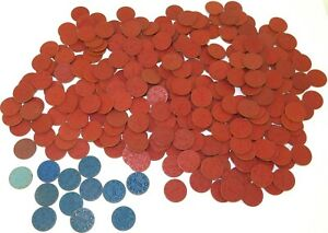 LARGE-JOB-LOT-WW2-OPA-RED-amp-BLUE-POINT-RATION-TOKENS-HARD-TO-GET-IN-AUSTRALIA