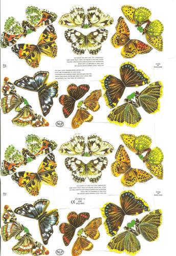 1 Bogen Glanzbilder Poesie Schmetterlinge MLP 811 Nr.503