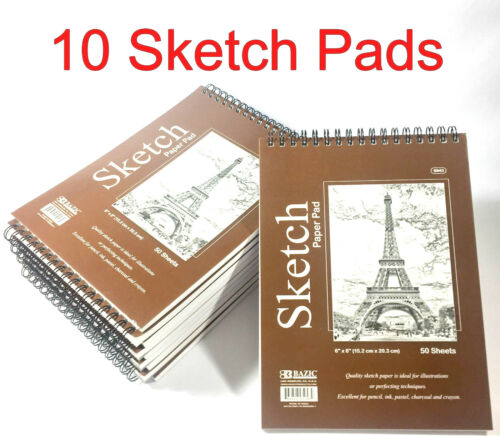 6 x 8 inches Premium Quality Sketches Pad Drawing Book 50 sheets 10