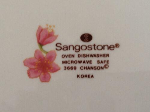 "Memories 3665 LUNCHEON PLATE 7-1//2/"" BREAD SALAD Sango SangoStone China"