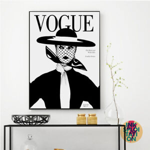 d168c54a058f Image is loading VOGUE-Vintage-Monotone-Wall-Art-Typography-Quote-Print-