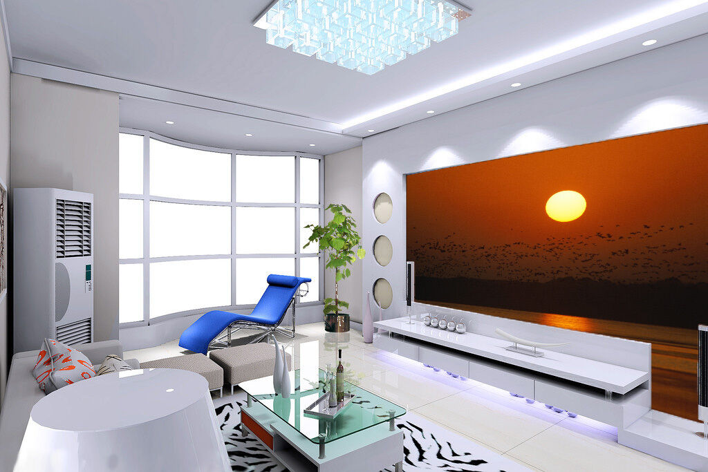 3D Sunset Reflected Water 225 Wall Paper Wall Print Decal Wall AJ WALLPAPER CA