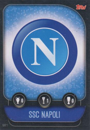 Topps match coronó Champions League 19 20 2019 2020 nap1 SSC Nápoles club Badge