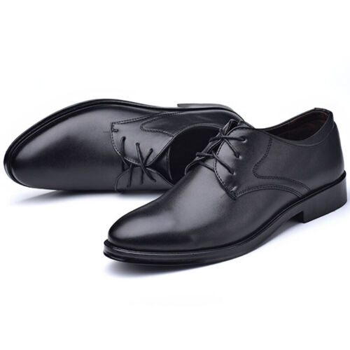 MENS FAUX LEATHER SHOES ITALIAN SMART FORMAL WEDDING OFFICE PARTY SHOES SIZE6-11