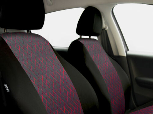 red Car seat covers fit Kia Carens full set black