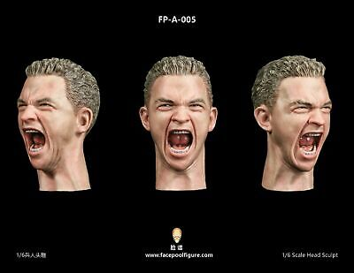 """1//6 Male Facepool Head Sculpt Carving FP-A-005 Model fit 12/"""" Action Figure Body"""