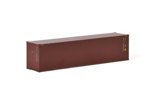 WSI 04-1171 40 ft Shipping Container Brown Maxitrans Drake Load 1:50