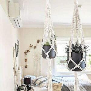 Macrame-Plant-Hanger-Natural-Small-Large-or-Duo-Handmade