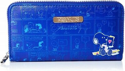 Peanuts Snoopy Long Wallet Purse 3D Print Black PU Leather Japan Limited