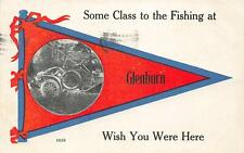 "Some Class to the Fishing at Glenburn, Maine ""Wish You Were Here"" Postcard 1913"