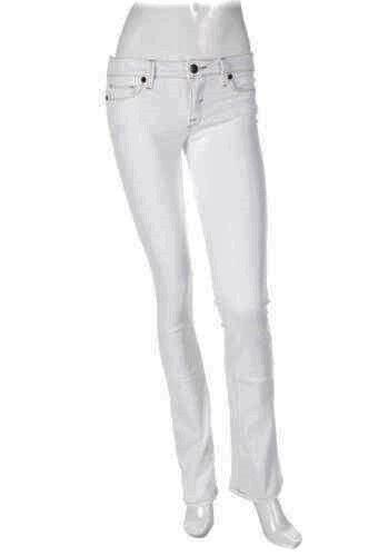 DENIMOCRACY WHITE KINGDOM SKINNY BOOTCUT STRETCH JEANS Retail  190 SZ 27 NWT