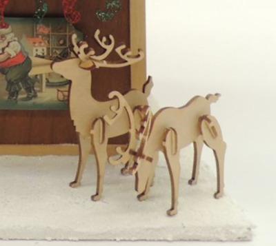 CHM LARGE pair of standing deer Kit