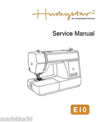 Husqvarna Viking H Class E10 Service Manual Amp Parts