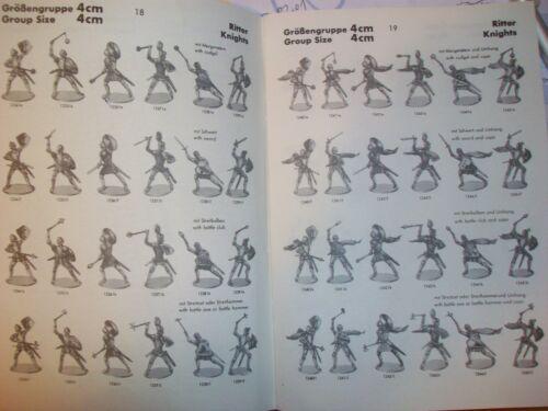Konvolut 28 Merten Kunststoff Figuren Rohlinge Ritter 46 Waffen 4cm