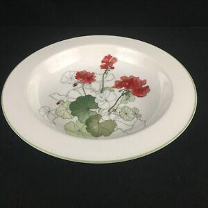 VTG-Rim-Soup-Bowl-by-Block-Spal-Watercolors-Geranium-Rust-Floral-Portugal