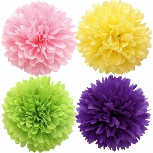 5PC Tissue Paper Pom-Poms Flower Wedding Party Home Hanging Decor Hot