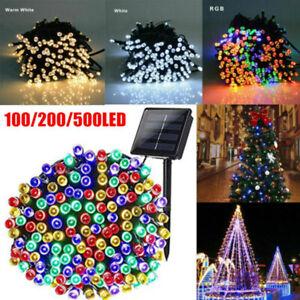 Fairy String Lights 100-500 LED Christmas Tree Wedding Xmas Party Decor Outdoor