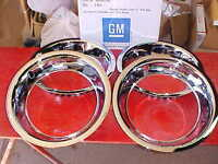 15x3'' Chevy Bowtie Beauty Bands/trim Rings,show Chrome Stainless,corvette Rally