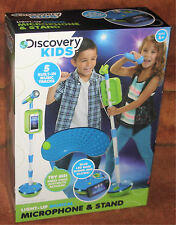 DISCOVERY KIDS - LIGHT-UP MUSICAL MICROPHONE & STAND  NIB