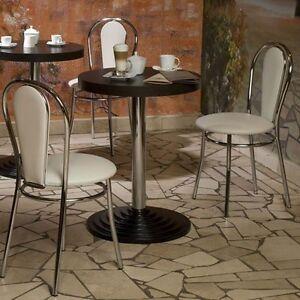 2er set gastronomie sessel stuhl bar k che b ro bodengleiter sitz beige chrom ebay. Black Bedroom Furniture Sets. Home Design Ideas