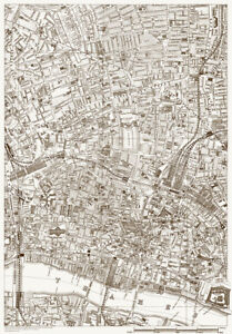 Old Street London Map.Details About St Lukes Old Street The City Old Map London 1888 D16 Repro
