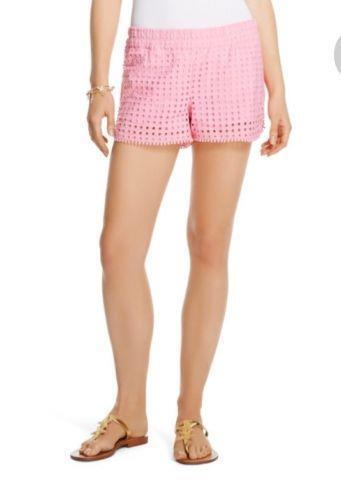 Lilly Pulitzer for Target Womens Pink Cotton Eyelet Shorts SMALL 2-4