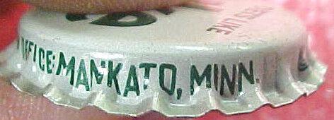 M RARE Vintage Cork metal LIKE Soda Bottle cap caps Mankato Minn MN Diets like
