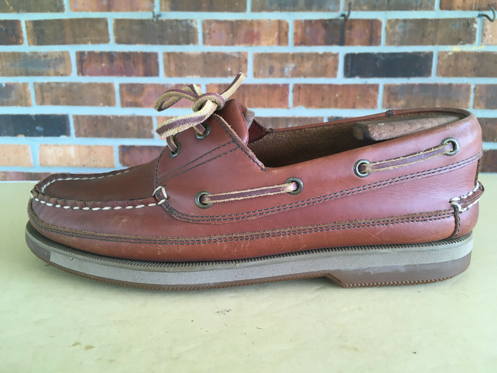 West Marine Comfort Classic Moc  Leather Boat Shoes Brown  Moc Men's Size 8.5G  36(10 4ebb36