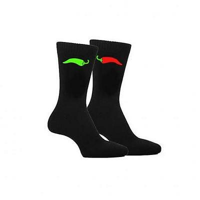 Red /& Green Chilli Design Mens Socks Adult UK Size 5-12 X6N154