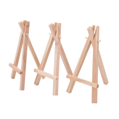 1x Mini Wooden Art Holders Artworks Display Table-Top Easels Drawing Board In UK