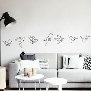 Image Is Loading Geometric Origami Birds Wall Quote Sticker Vinyl Decals