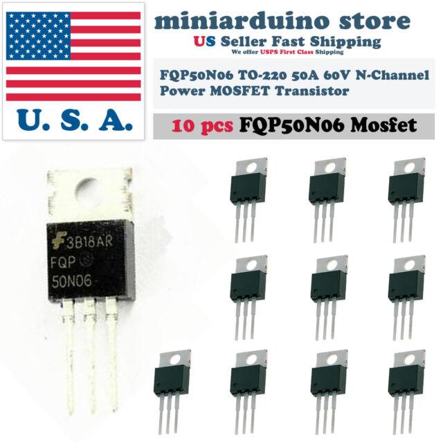 5 PC fqp13n10 FAIRCHILD MOSFET N-Channel 100v 12,8a to220ab NEW