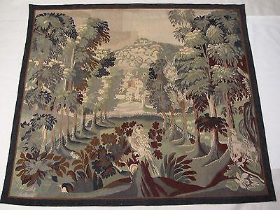Alter Großer Französischer Gobelin Wandteppich Aubusson Tapestry / Signiert Mit Den Modernsten GeräTen Und Techniken