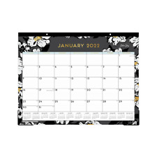 Blue Sky Monthly Desk Pad 17 X 22 Baccara Dark 2022 110215 Desk