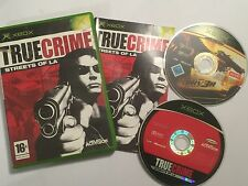 2 x pal ORIGINAL XBOX GAMES True Crime: Streets Of LA complete + DRIV3R disc