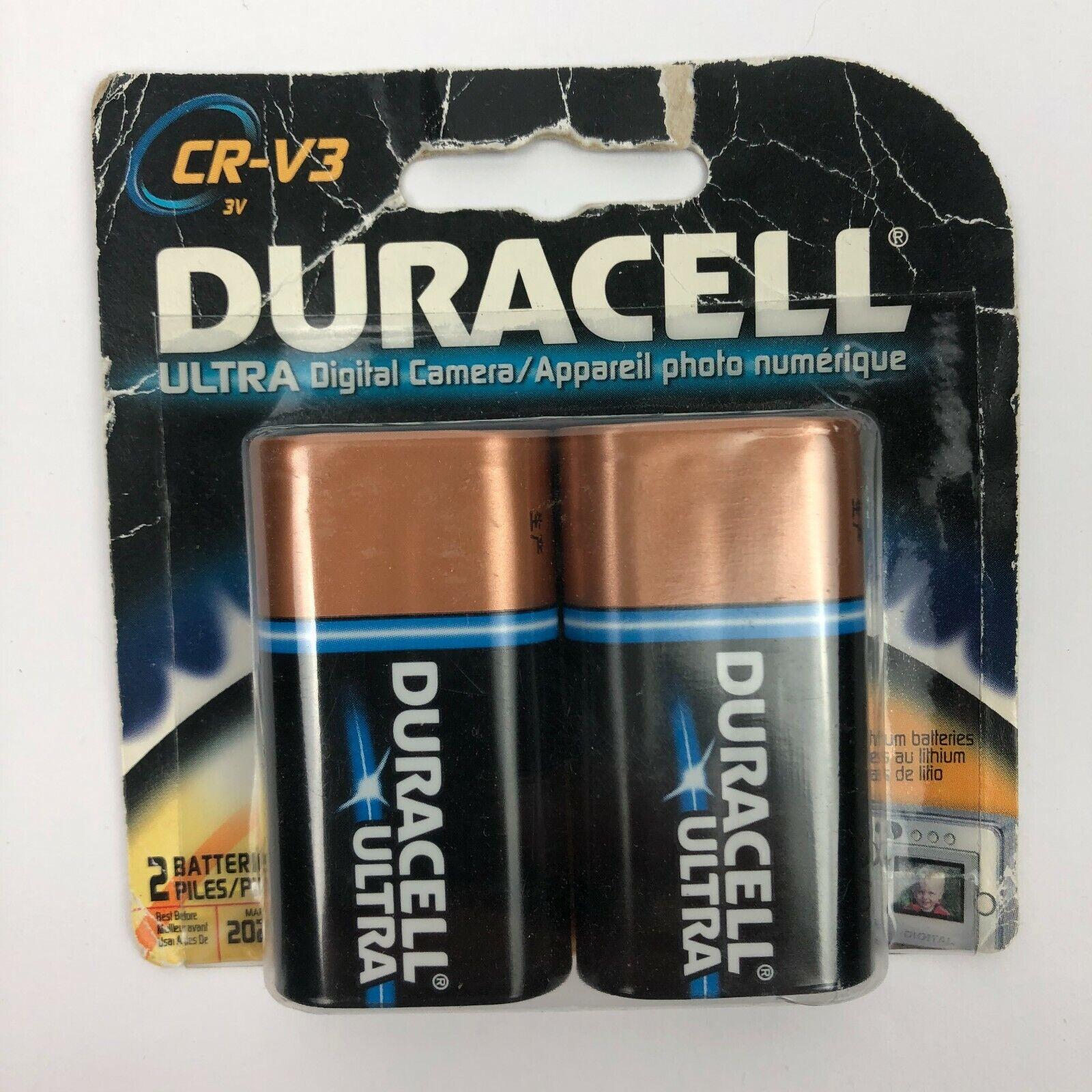 Duracell CR-V3 3V Lithium Camera Photo Battery 2 Pack Expire MAR 2021 NOS