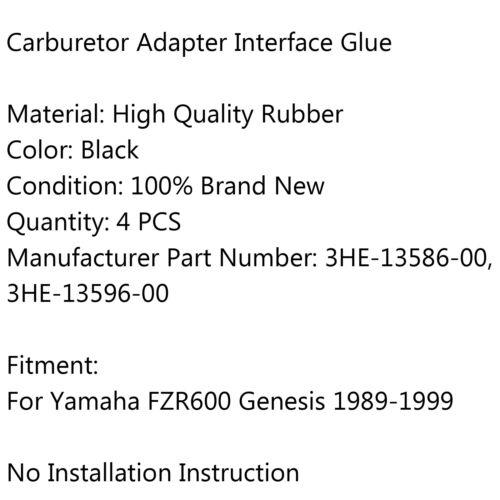 Joint Carb Ansaugstutzen carburetor Flange Boot Für Yamaha FZR600 1989-1999 DH