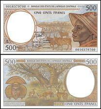 Central African States 500 Francs, 2000, P-401Lg, UNC, Prefix-L, Gabon